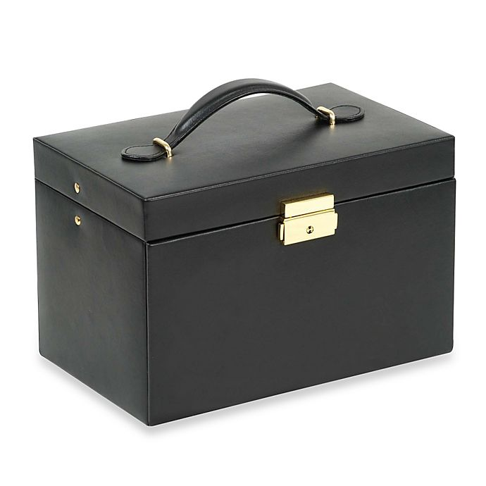 Alternate image 1 for Wolf Designs® Chelsea Large Jewelry Case in Black