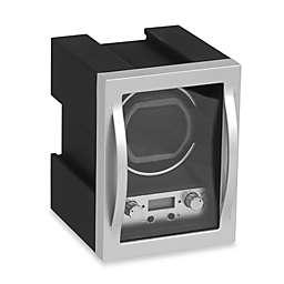 Wolf Designs® Module 4.1 Single Watch Winder in Black/Silver