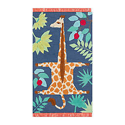 Novogratz by Momeni® Atticus Giraffe 5' X 7' Tufted Area Rug in Navy