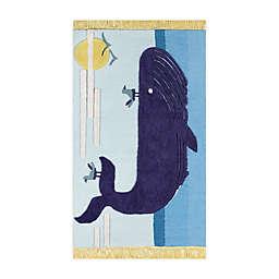 Novogratz by Momeni® Atticus Whale 4' X 6' Tufted Area Rug in Blue