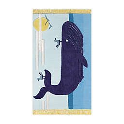 Novogratz by Momeni® Atticus Whale 5' X 7' Tufted Area Rug in Blue