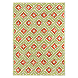 Momeni® Baja Blocks 8'6 x 13' Indoor/Outdoor Area Rug in Green