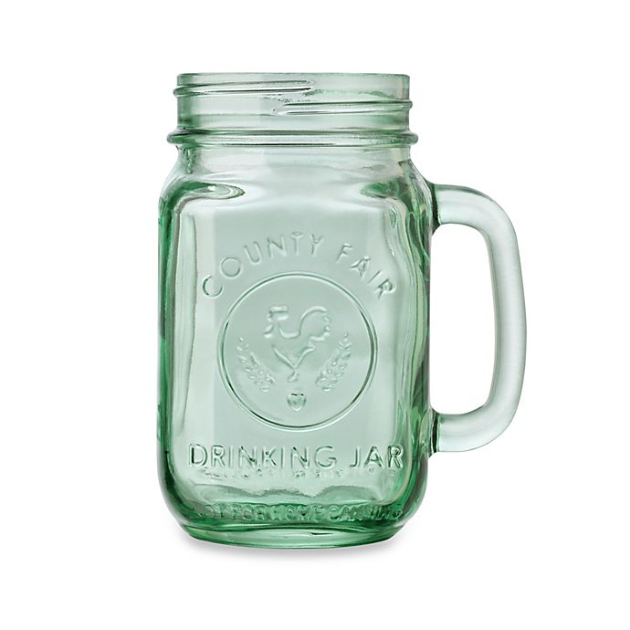 Alternate image 1 for Libbey® Glass County Fair 16.5-Ounce Mason Drinking Jar in Light Green