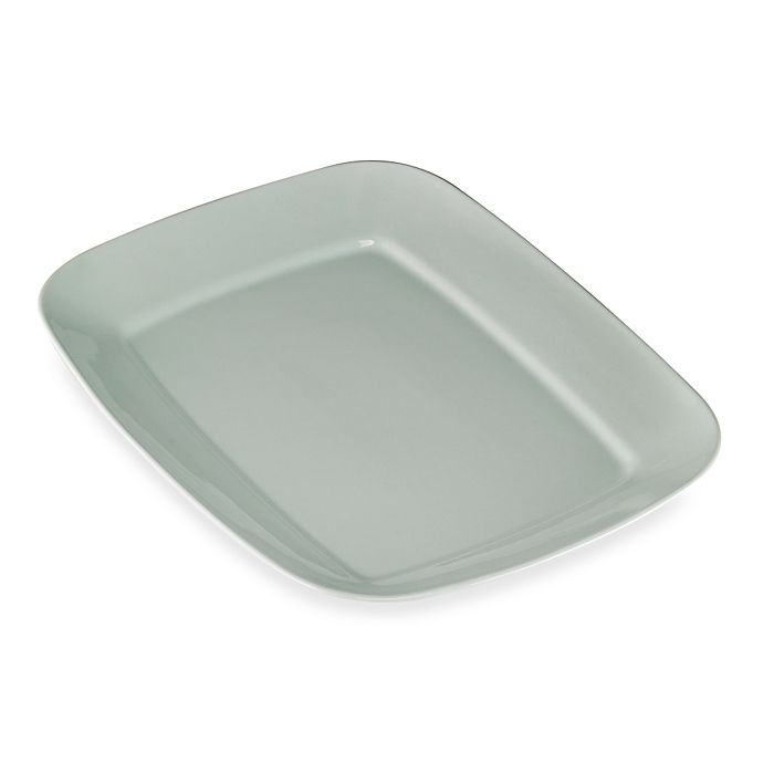 Alternate image 1 for Real Simple® Large Rectangular Rim Serving Platter in Seaglass