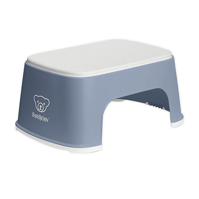 Alternate image 1 for BABYBJÖRN Step Stool in Deep Blue/White