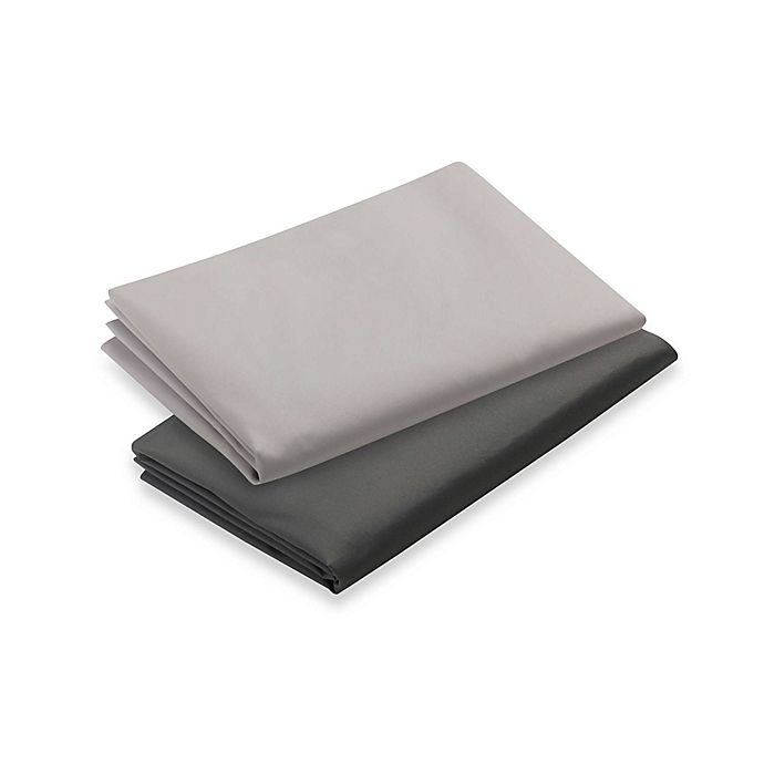 Alternate image 1 for Graco® Pack 'n Play® 2-Pack Playard Sheets in Grey and Pale Grey
