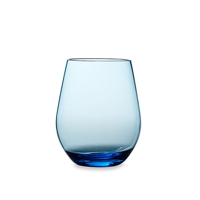 Alternate image 1 for Shatterproof Stemless Red Wine Glass in Cool Blue