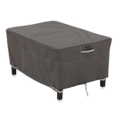 Classic Accessories® Ravenna Rectangular Ottoman/Side Table Cover in Dark Taupe