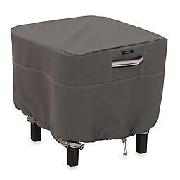 Classic Accessories® Ravenna Small Square Ottoman/Side Table Cover in Dark Taupe