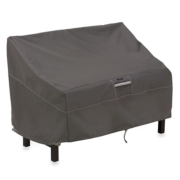 Classic Accessories 174 Ravenna Bench Cover In Dark Taupe