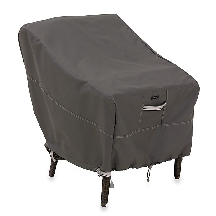 Alternate image 1 for Classic Accessories® Ravenna Standard Patio Chair Cover in Dark Taupe