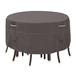 Classic Accessories® Ravenna Round Patio Table and Chair Set Cover in Dark Taupe