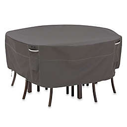 Classic Accessories® Ravenna Medium Round Patio Table and Chair Set Cover in Dark Taupe