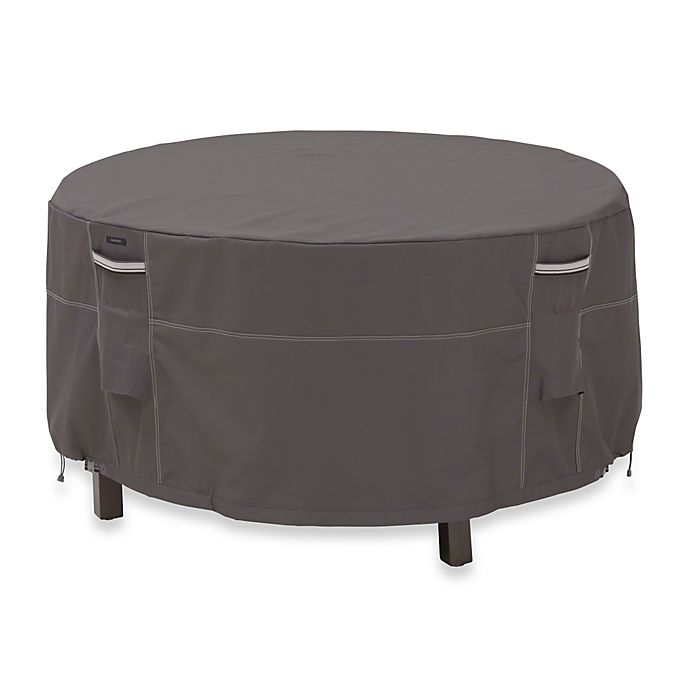 Alternate image 1 for Classic Accessories® Ravenna Tall Round Patio Table and Chair Set Cover in Dark Taupe