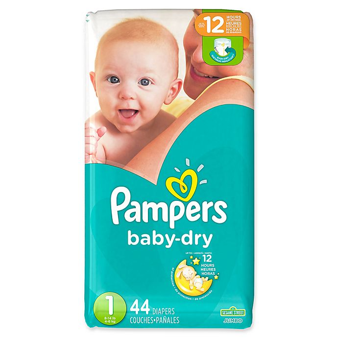 Alternate image 1 for Pampers® Baby Dry™ 44-Count Size 1 Jumbo Pack Disposable Diapers