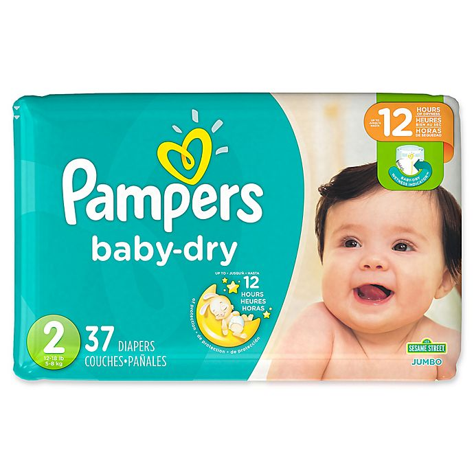 Alternate image 1 for Pampers® Baby Dry™ 37-Count Size 2 Jumbo Pack Disposable Diapers