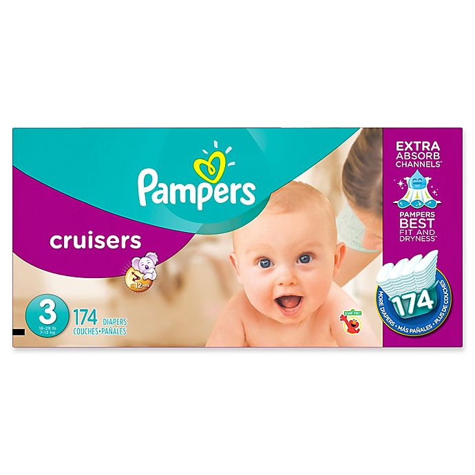 Alternate image 1 for Pampers® Cruisers™174-Count Size 3 Economy Pack Plus Disposable Diapers