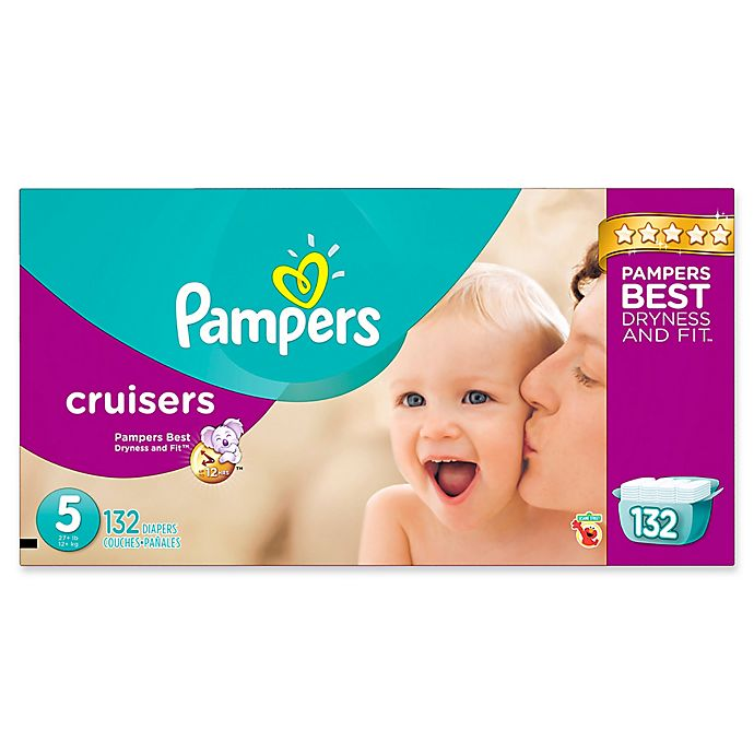 Alternate image 1 for Pampers® Cruisers™ 132-Count Size 5 Economy Pack Plus Disposable Diapers