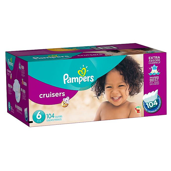 8e37d20466999 Pampers® Cruisers™ 104-Count Size 6 Economy Pack Plus Disposable Diapers