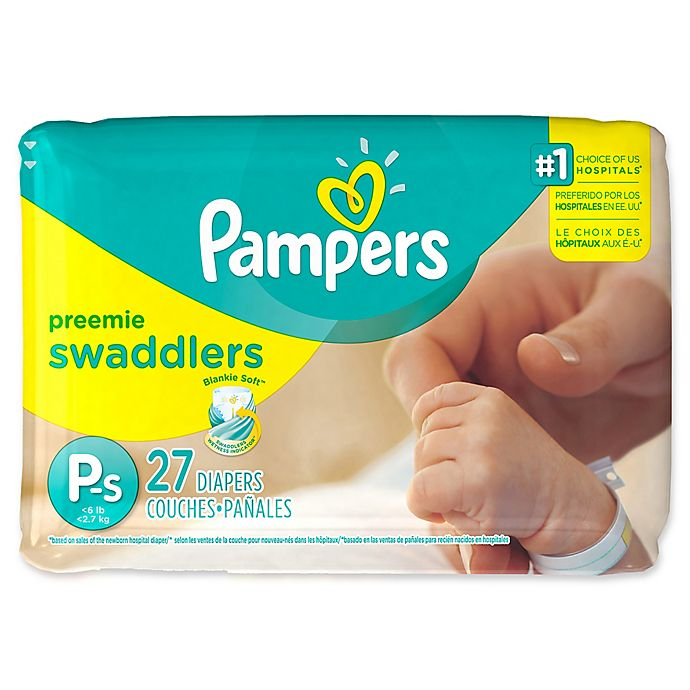 Alternate image 1 for Pampers® Swaddlers™ 27-Count Size Preemie Jumbo Disposable Diapers