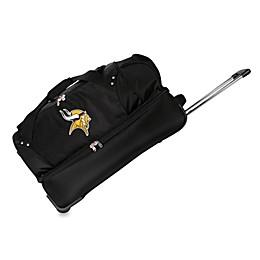 NFL Minnesota Vikings 27-Inch Drop Bottom Wheeled Duffel Bag