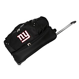 NFL New York Giants 27-Inch Drop Bottom Wheeled Duffel Bag