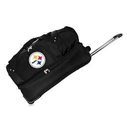 NFL Pittsburgh Steelers 27-Inch Drop Bottom Rolling Duffel Bag