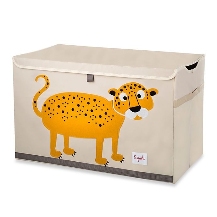 Alternate image 1 for 3 Sprouts Leopard Toy Chest