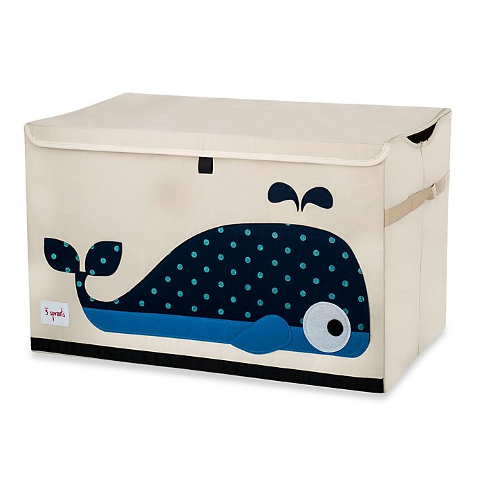 Alternate image 1 for 3 Sprouts Toy Chest in Whale