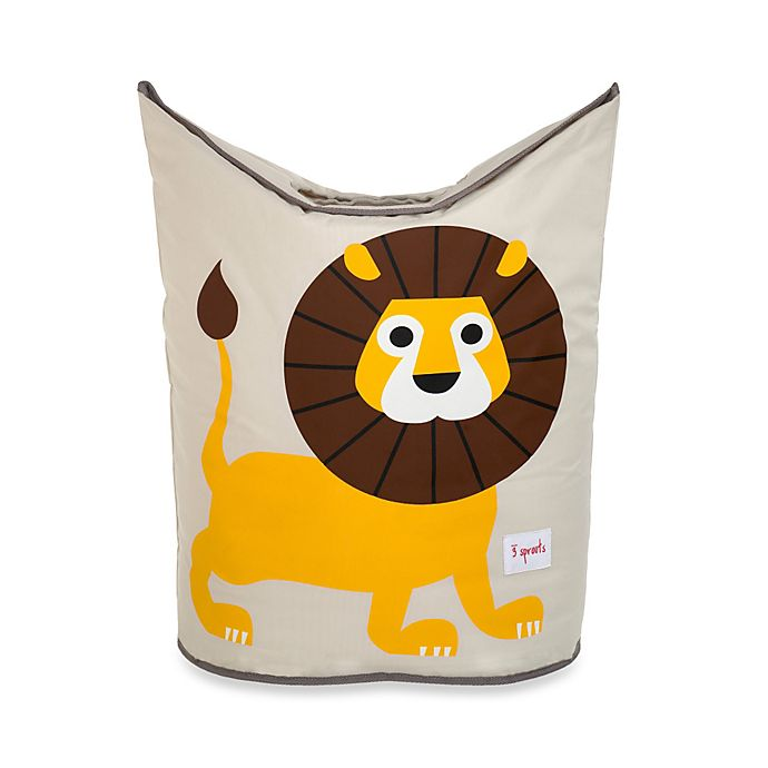 Alternate image 1 for 3 Sprouts Lion Laundry Hamper in Yellow