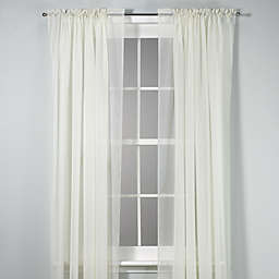 Voile 84-Inch Sheer Rod Pocket Window Curtain Panel in Ivory