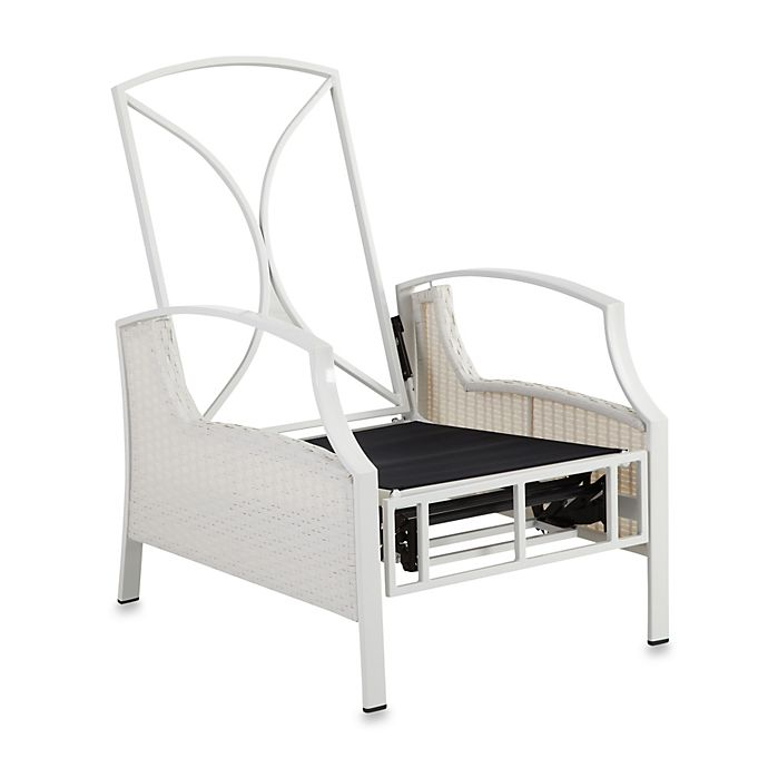 Alternate image 1 for Mix & Match Stratford Wicker Recliner Frame in White