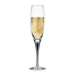 Orrefors Intermezzo Blue Champagne Flute