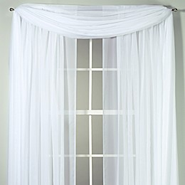 Voile Sheer Window Curtain Panel and Scarf