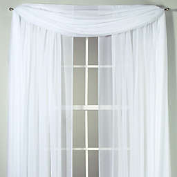 Voile Sheer 6-Yard Window Scarf in White
