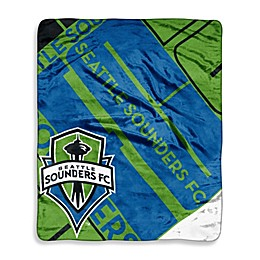 Seattle Sounders FC Super-Plush Raschel Throw Blanket