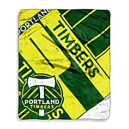 Portland Timbers Super-Plush Raschel Throw Blanket