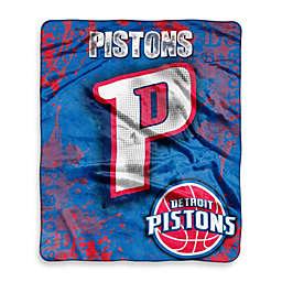 NBA Detroit Pistons Super-Plush Raschel Throw Blanket