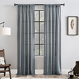 Clean Window® Basketweave Anti-Dust Window Curtain Panel