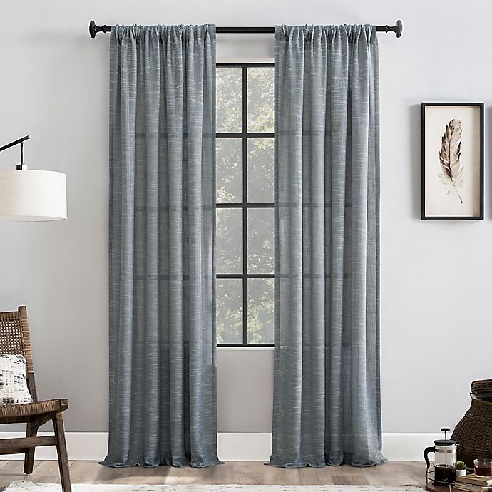 Alternate image 1 for Clean Window® Basketweave Anti-Dust Window Curtain Panel