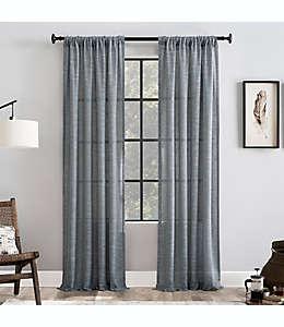 Cortina anti polvo Clean Window® con dobladillo, 2.13 m en azul desteñido