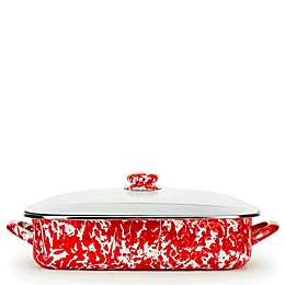 Golden Rabbit® Red Swirl Roasting Pan