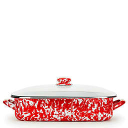Golden Rabbit® Red Swirl 10.5 qt. Roasting Pan