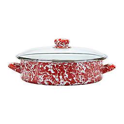 Golden Rabbit® Red Swirl 8 qt. Sauté Pan with Lid