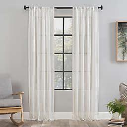 Clean Window® Vintage Stripe Anti-Dust 84-Inch Rod Pocket Sheer Window Curtain Panel in Beige