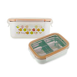 Innobaby Double-Lined Stainless Bento Snack Box in Orange