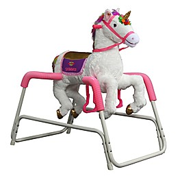 Rockin' Rider® Shimmer the Talking Unicorn Ride-On in White