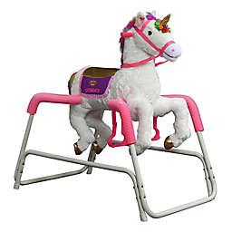 Rockin' Rider® Shimmer the Talking Unicorn Ride-On in White