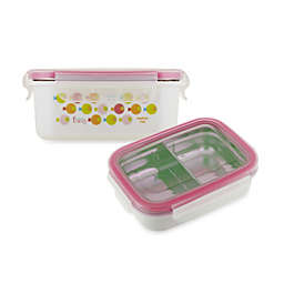 Innobaby Double-Lined Stainless Bento Snack Box in Pink