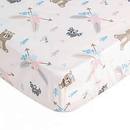 Levtex Baby® Malia Bear Mini Fitted Crib Sheet in Pink/Blue